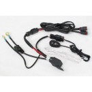 Denali Replacement Single-Intensity dual light harness with lighted switch (2-pin connector) for Denali LED headlights DENTT-WH.1