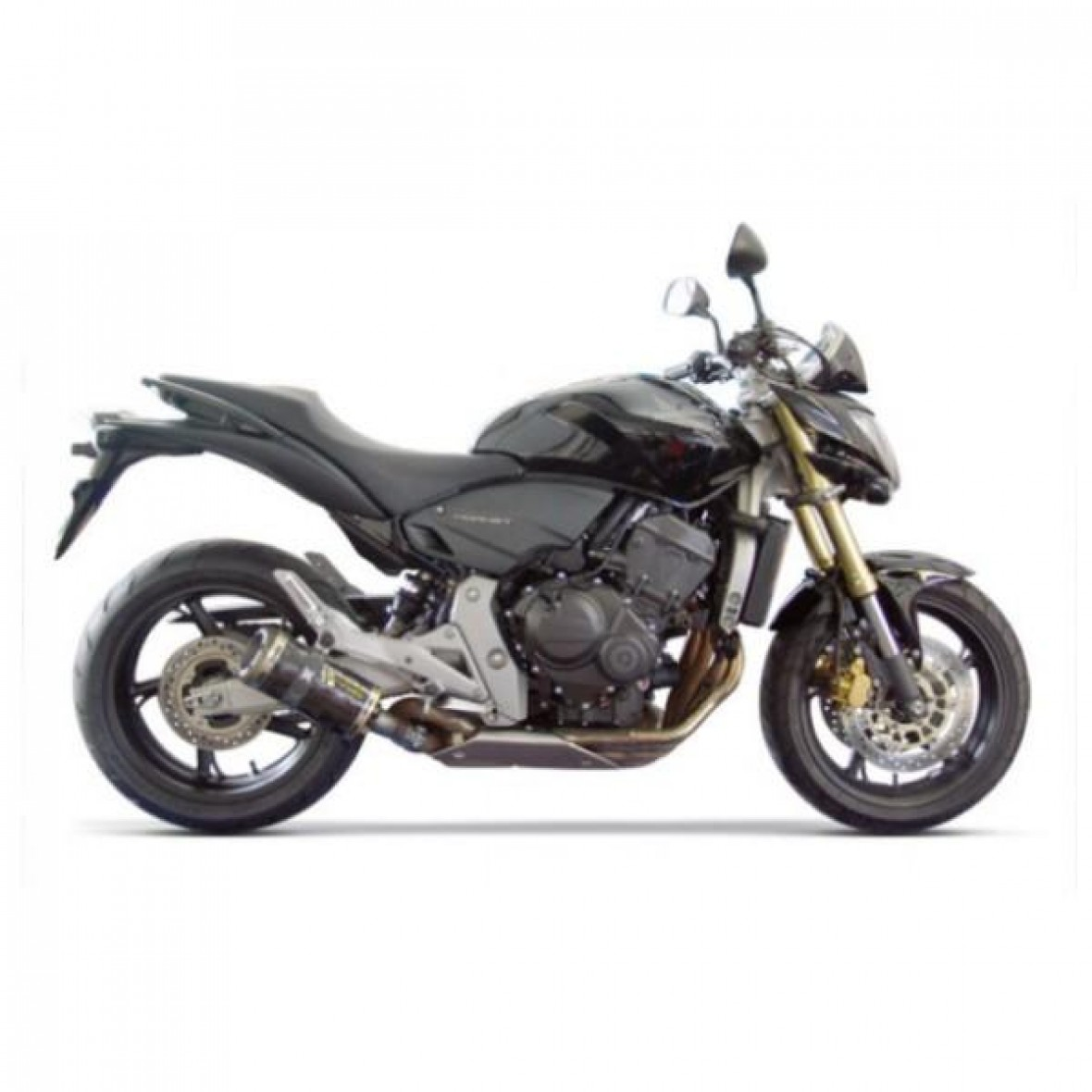 Two Brothers Road Black Series Carbon Slip On Exhaust Honda Hornet