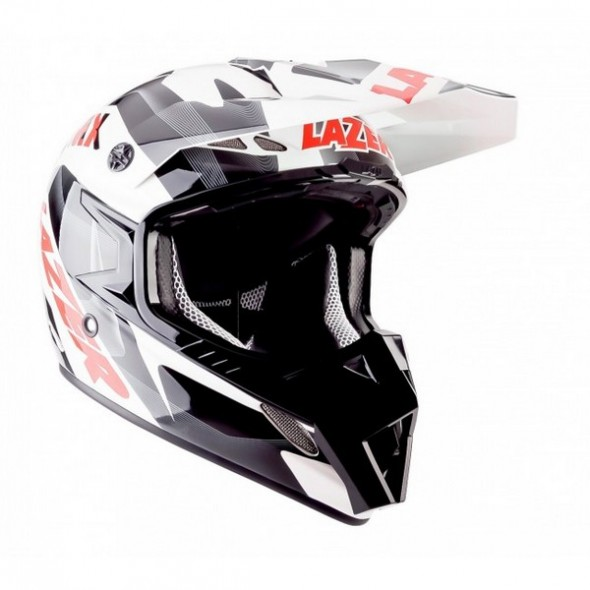 Lazer MX8-Pure Glass Geopop Motocross Helmet - White/black