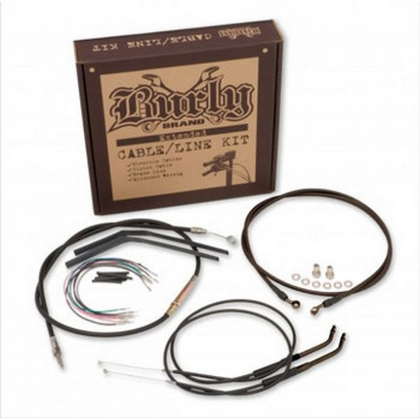 "Burly Apehanger Cable Kit - 14"" (Dyna FXD 2006) - Brake Line Kit"