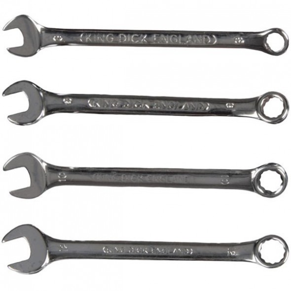 King Dick Combination Wrench Set 4PC