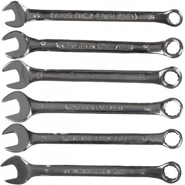 King Dick Combination Wrench Set 6PC