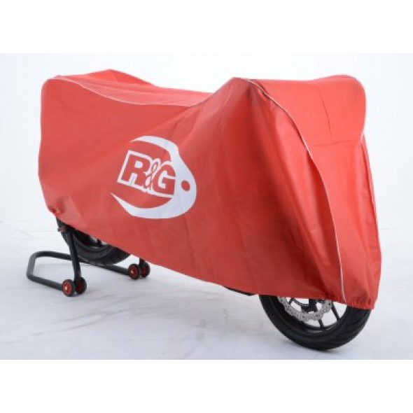 R&G Dust Cover for Superbike/Street Motorcycles DC00REWH (Red/White)