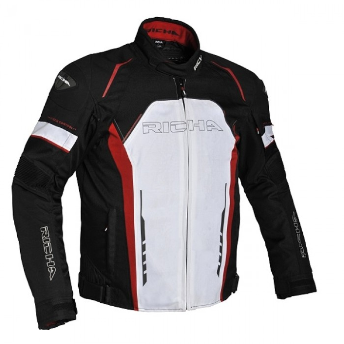 Richa Falcon Jacket Black White Red