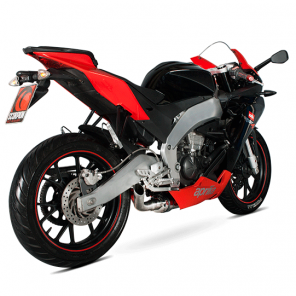 Aprilia RS4 125 | Stealth Oval Scorpion Exhaust | Stainless Steel | 11-
