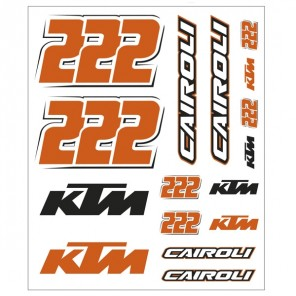 Vr46 Tony Cairoli Ktm Stickers Large