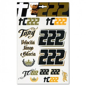 Vr46 Tony Cairoli Stickers Large