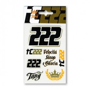 Vr46 Tony Cairoli Stickers Small