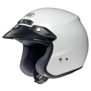 Shoei RJ Plain White