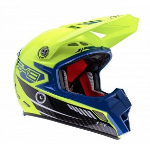 Lazer MX8-Carbon Tech Motocross Helmet - Yellow/Blue