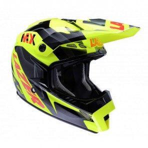 Lazer MX8-Pure Glass Geopop Motocross Helmet - Yellow/Black/Red
