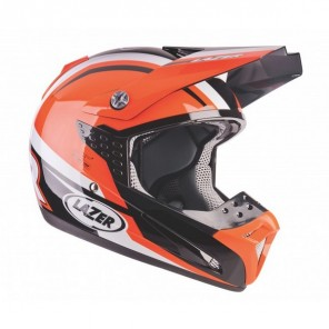 Lazer SMX Nations Motocross Helmet - Black/White/Orange