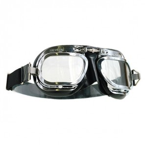 Halcyon Goggles MK10 Deluxe Curved Lens - Chrome/Black