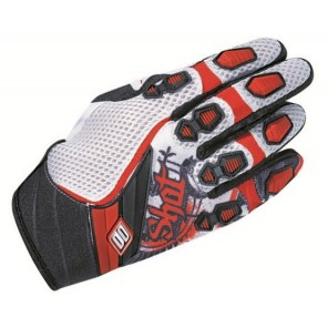 Shot 12 Contact Motocross Glove Old School - White/Red