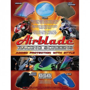 Airblade Screen Double Bubble - Kawasaki ZX10R (04-05) - Iridium