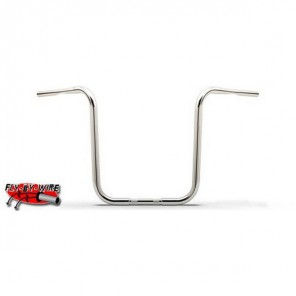 "Burly Apehangers 16"" - Chrome (Fly By Wire)"
