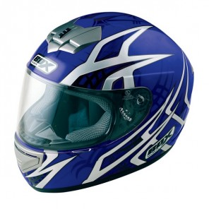 BOX BX-1 Web Full Face Helmet - Blue