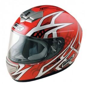 BOX BX-1 Web Full Face Helmet - Red