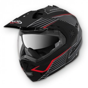 Caberg Tourmax Sonic Flip Up Helmet - Black/Red