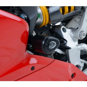 Ducati 899 / 959 / 1199 / 1299 Panigale | R&G Crash Protectors - Aero Style [No Drill Kit] | CP0389BL (Black)