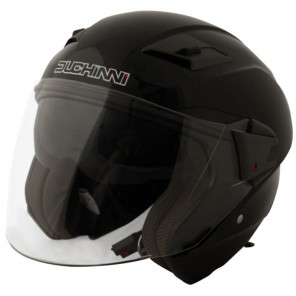 Duchinni D205 Jet Open Face Helmet - Black