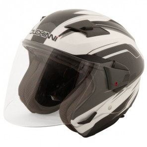Duchinni D205 Jet Open Face Helmet - White / Black