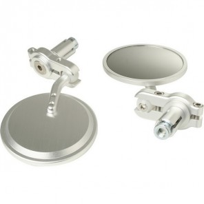 Mini Bar End Mirrors  - Silver