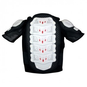 GP-PRO Adult MOTO-X Protector Jacket Short Sleeved - Black/White