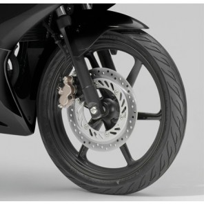 CBR125R FRONT FENDER. (ACHILLES BLACK METALLIC) *NH124MU* | Genuine Honda |  61100KPP900ZR |