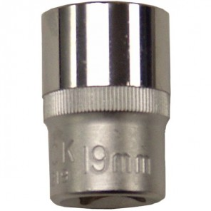 "King Dick Socket Standard 1/2"" Square Drive 19mm"