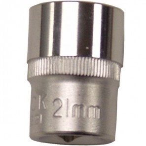 "King Dick Socket Standard 1/2"" Square Drive 21mm"