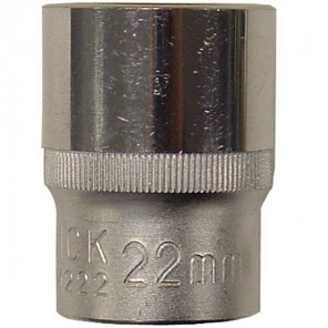 "King Dick Socket Standard 1/2"" Square Drive 22mm"