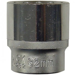 "King Dick Socket Standard 1/2"" Square Drive 32mm"