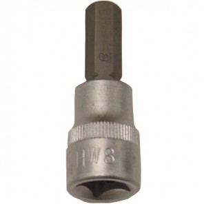"King Dick Socket Short Hex Bit 3/8"" SD 8mm"
