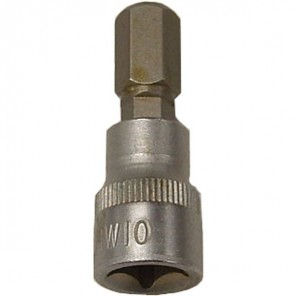 "King Dick Socket Short Hex Bit 3/8"" SD 10mm"
