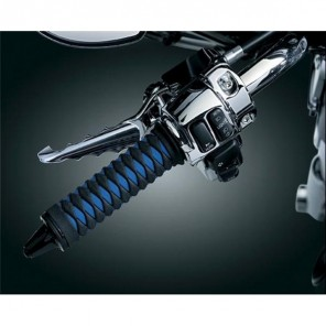 Kuryakyn Braided Grips 82-UP H-D Models With Dual Cable Throttle Control - Black/Blue