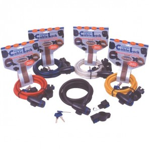 Oxford Cable Lock Tough and Reliable - Clear