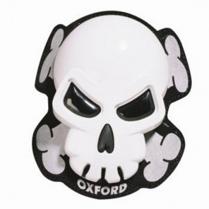 Oxford Skull Knee Sliders White