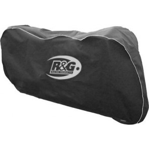 R&G Dust Cover for Superbike/Street Motorcycles DC00BKSI (Black/Silver)