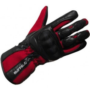 Buffalo Racetex Glove - Black / Red