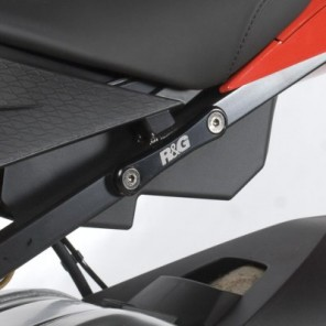 R&G Rear Foot Rest Plates | BLP0002BK