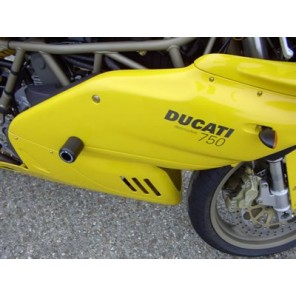 Ducati 600SS/750SS/900SS/1000DS 99-00   R&G Crash Protectors - Classic Style CP0083BL (BLACK)