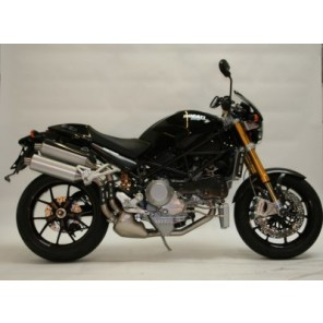 Ducati Monster, MTS Multistrada 1100, Monster S4RS | R&G Crash Protectors | Classic Style | CP0097BL (BLACK)