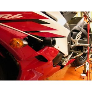 Yamaha YZFR6 06> | R&G Crash Protectors | Classic Style | CP0167WH (WHITE)