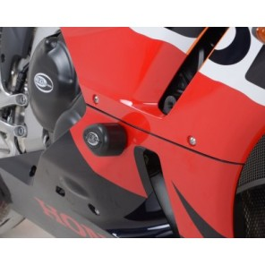 Honda CBR600RR ('13-) | R&G Crash Protectors (DRILL KIT) | Aero Style | CP0341BL (BLACK)