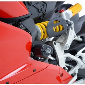 Ducati 899 / 1199 Panigale [No Drill Kit] | R&G Crash Protectors | Aero Style | CP0358BL (BLACK)