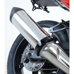 """R&G Exhaust Protector (Can Cover)   Supermoto Style 4.5"""" to 5.5"""" Round   EP0006BK"""