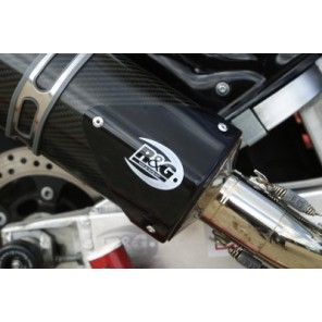 R&G Exhaust Protector (Can Cover)   Tri Oval   EP0007BK