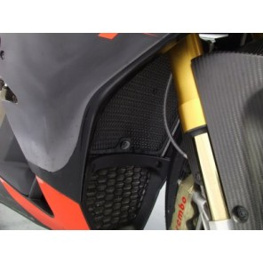 Aprilia RSV4/RSV4R '09 | R&G Radiator Guards | RAD0076BK (Black)