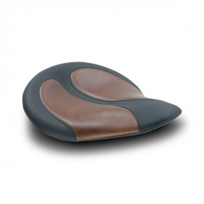 Mustang Cyclone Solo Seat With Brown Insert - Brown